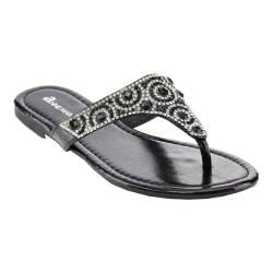 Girls' L & C Brillo-3K Thong Sandal Black