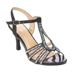 Women's L & C Claudia-93 Ankle Strap Sandal Black