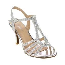 Women's L & C Claudia-93 Ankle Strap Sandal Silver