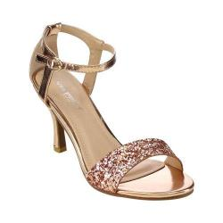Women's L & C Claudia-96 Ankle Strap Sandal Champagne