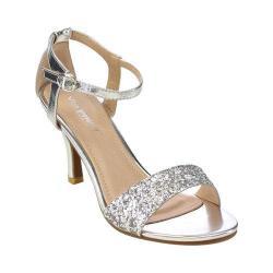 Women's L & C Claudia-96 Ankle Strap Sandal Silver