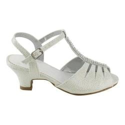 Girls' L & C Daphne-877E T-Strap Sandal White