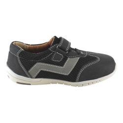 Boys' L & C Jake-881K Adjustable Strap Shoe Black