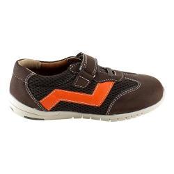 Boys' L & C Jake-881K Adjustable Strap Shoe Brown