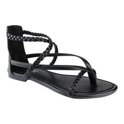 Women's L & C Kaycee-5 Braided Strappy Thong Sandal Black