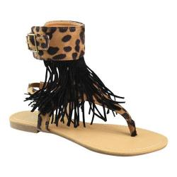 Women's L & C Rebel-1 Thong Sandal Leopard