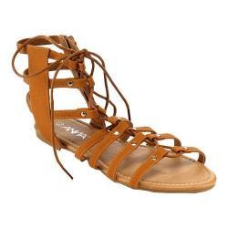 Women's L & C Roman-1 Gladiator Sandal Tan