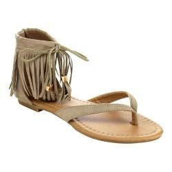 Women's L & C Ruffle-7 Thong Sandals Taupe