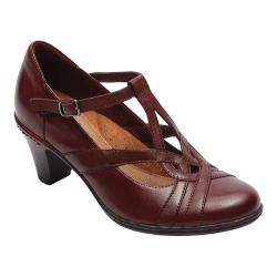 Women's Rockport Cobb Hill Marilyn T-Strap Wine Leather