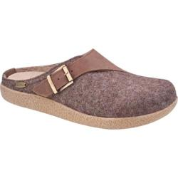 Giesswein Brixlegg Clog Taupe Wool/Leather