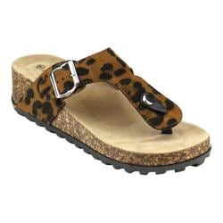 Women's L & C Studio-1 Thong Sandal Leopard