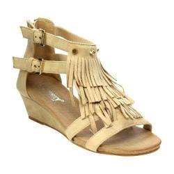 Women's L & C Suzie-02 Wedge Sandal Beige