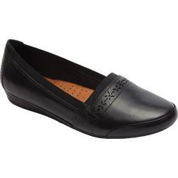 Women's Rockport Cobb Hill Gigi Slip-On Black Leather