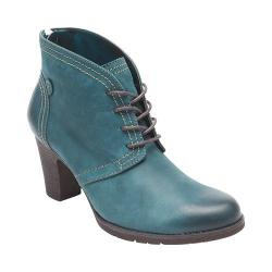 Women's Rockport Cobb Hill Keara Ankle Boot Teal Leather