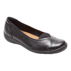 Women's Rockport Cobb Hill Lizzie Slip-On Black Leather