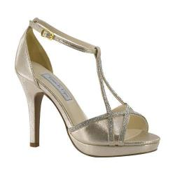 Women's Touch Ups Harlow T-Strap Platform Sandal Champagne Shimmer