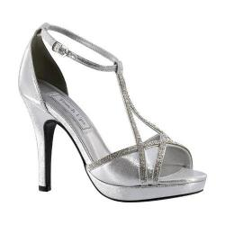 Women's Touch Ups Harlow T-Strap Platform Sandal Silver Shimmer