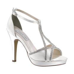 Women's Touch Ups Harlow T-Strap Platform Sandal White Satin