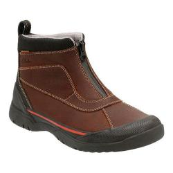 Men's Clarks Allyn Up Waterproof Zip-Up Boot Brown Tumbled Cow Full Grain Leather