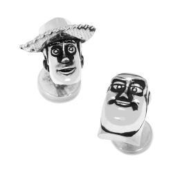 Men's Cufflinks Inc 3D Woody and Buzz Lightyear Cufflinks Silver