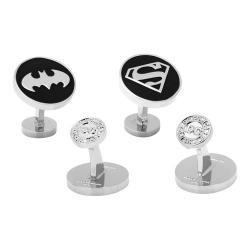Men's Cufflinks Inc Batman and Superman Cufflinks Set Silver