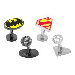 Men's Cufflinks Inc Batman and Superman Enamel Cufflinks Gift Set Multi