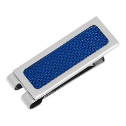 Men's Cufflinks Inc Blue Carbon Fiber Inlaid Money Clip Blue