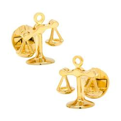 Men's Cufflinks Inc Moving Parts Gold Scales of Justice Cufflinks Gold