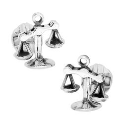 Men's Cufflinks Inc Moving Parts Scales of Justice Cufflinks Silver