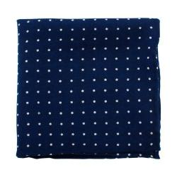 Men's Cufflinks Inc Polka Dot Pocket Square Navy