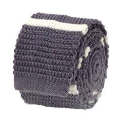 Men's Cufflinks Inc Stripe Knit Tie Gray