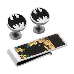 Men's Cufflinks Inc Vintage Silver Batman Cufflink/Money Clip Gift Set Multi