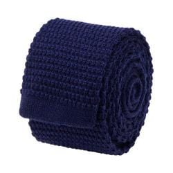 Men's Cufflinks Inc Wool Knit Tie Navy