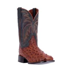 Men's Dan Post Boots Calhoun Cowboy Boot DP4533 Cognac/Black Leather