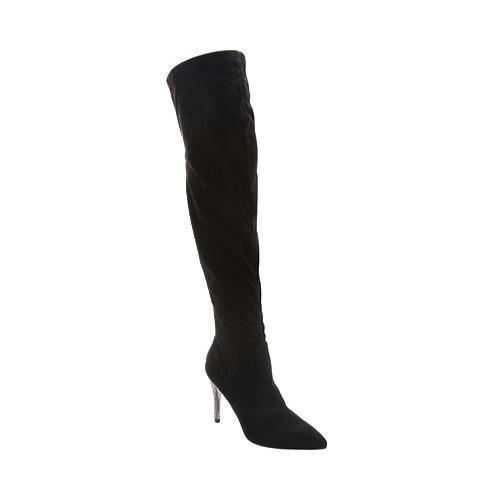 Women's Nina Rocklin Over-the-Knee Boot Noir Stretch Glam Suede/Stone
