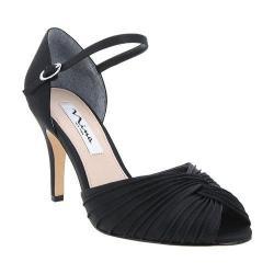 Women's Nina Ruby Quarter-Strap Sandal Black Luster Satin
