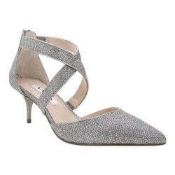 Women's Nina Tessie Cross-Strap Kitten Heel Steel Dreamland/Latte Metallic Foil