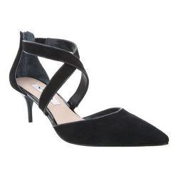 Women's Nina Tessie Cross-Strap Kitten Heel True Black Glam Suede/Black Patent