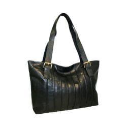 Women's Nino Bossi Rose Bud Tote Handbag Black