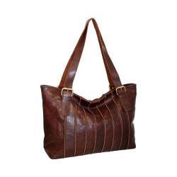 Women's Nino Bossi Rose Bud Tote Handbag Chocolate