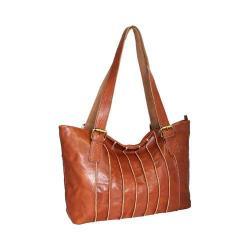 Women's Nino Bossi Rose Bud Tote Handbag Cognac
