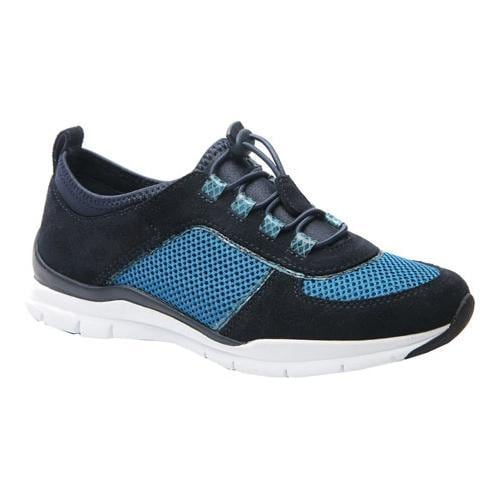 Women's Ros Hommerson Flynn Bungee Lace Sneaker Navy Leather/Mesh