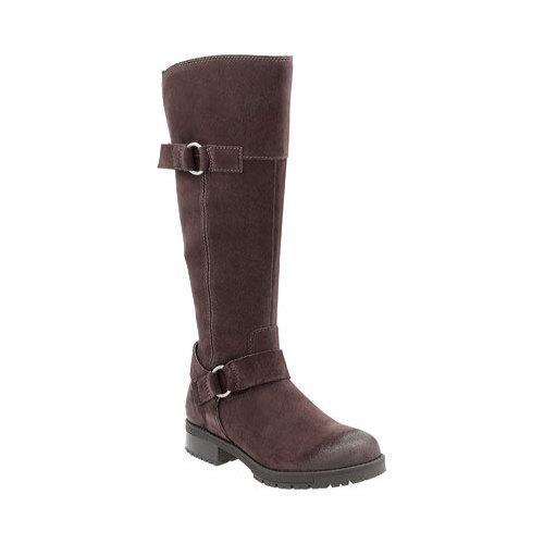 f92448d07e816a Shop Women's Clarks Faralyn Dawn Knee High Boot Dark Brown Cow Suede ...