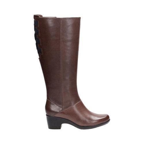 b322e6a8c95e ... Thumbnail Women  x27 s Clarks Malia Skylar Wide Calf Knee High Boot  Dark Brown ...