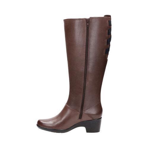 758fc5fbada7 ... Thumbnail Women  x27 s Clarks Malia Skylar Wide Calf Knee High Boot  Dark Brown