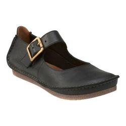 Women's Clarks Janey June Mary Jane Black Leather