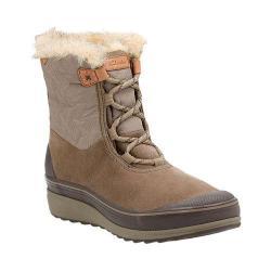 Women's Clarks Muckers Mist Low Waterproof Boot Dark Brown Cow Suede/Textile