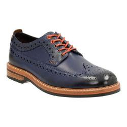 Men's Clarks Pitney Limit Wing Tip Brogue Blue Cow Full Grain Leather