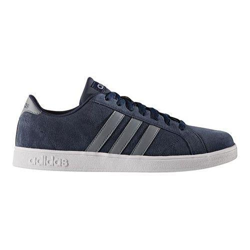 471855593bff Shop Men s adidas NEO Baseline Sneaker Collegiate Navy Grey White - Free  Shipping Today - Overstock - 12553182