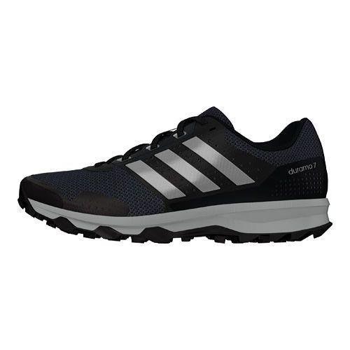 Men's adidas Duramo 7 Trail Running Shoe Black/Silver Metallic/Clear Onix - Thumbnail 1